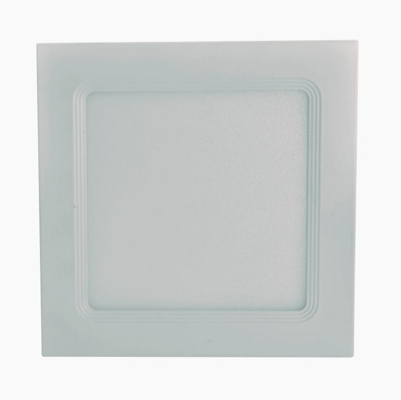 Emb. Slim LED Quadrado 24W 3.000K (Luz Amarela)
