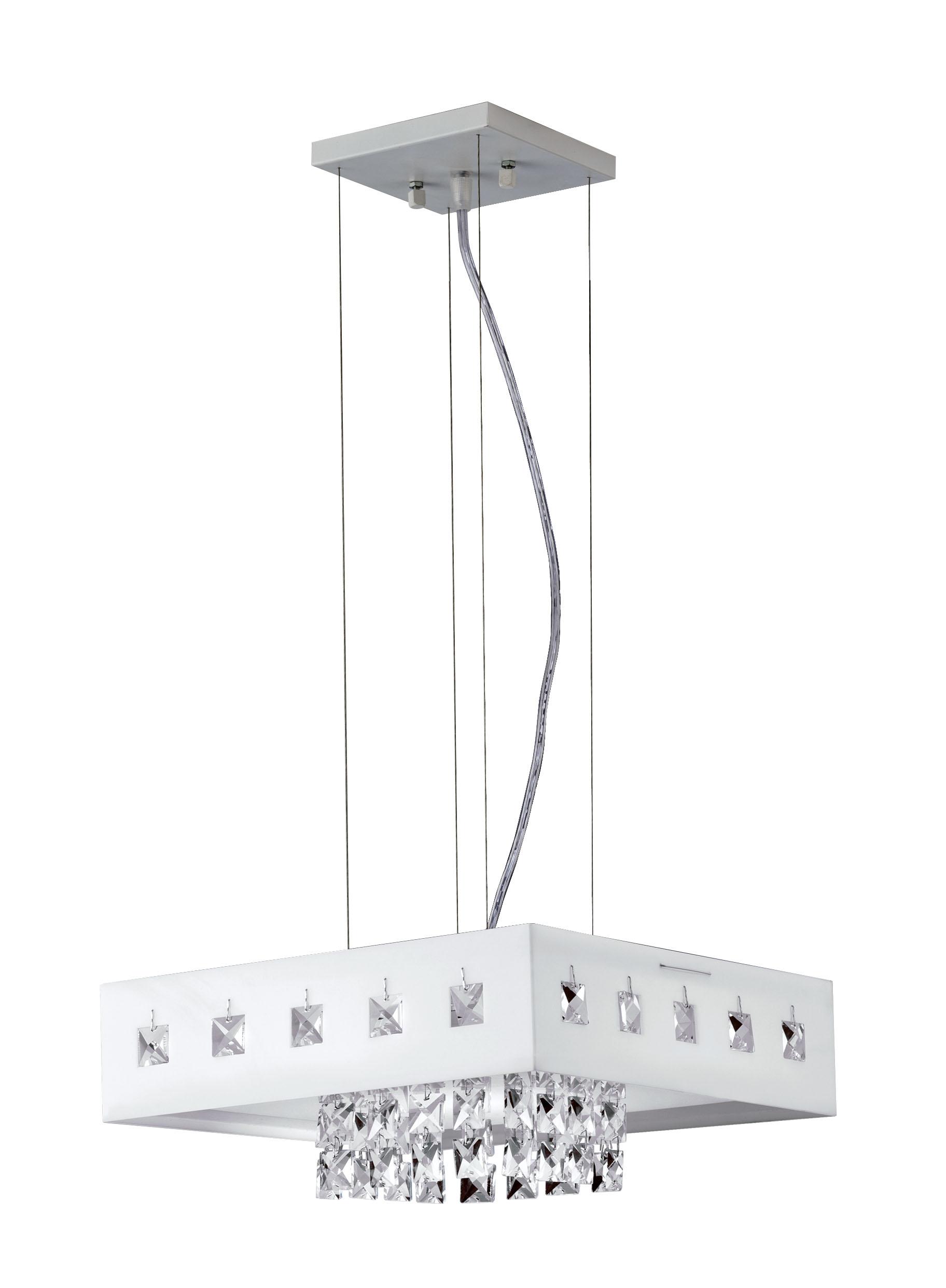 Pd. VIENNA LED 1X20W 220V 6.400K (Luz Branca) em Acrílico Br. Qd. 30X30cm CONTA/PINGENTE EM ACRÌLICO