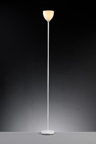 Luminária De Coluna Chão Calice E27 Branco LLUM Bronzearte