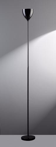 Luminária De Coluna Chão Cálice E27 Preto llum Bronzearte