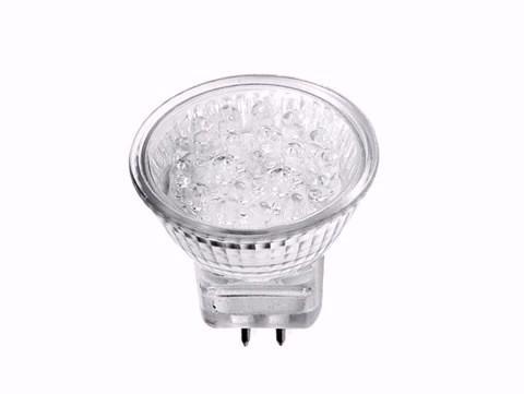 Lâmpada Led Dicroica Mr16 18 Led 1w 220v Branco Frio Quente