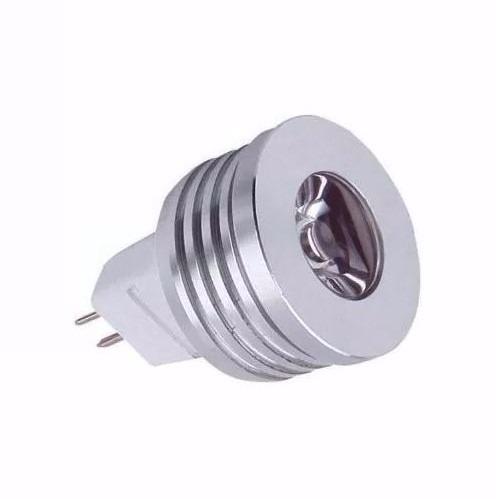 KIT 10 Lâmpada Power Led Mini Dicróica Mr11 3w 12v 2700k Amarela