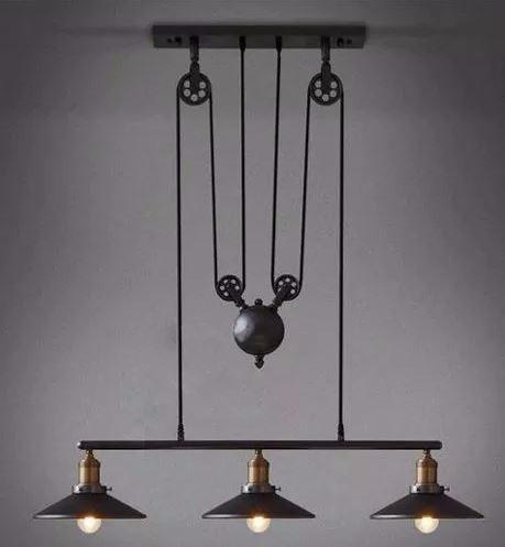 Pendente Industrial Trio Loft Preto Vintage Retro Design Mart