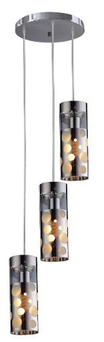 Luminária Lustre Pendente Bronzearte Illusion 3 Luzes E27