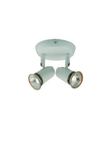 Luminária De Teto Spot De Sobrepor 2 Luzes Direcionável Llum New Short