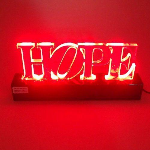 Abajur ACRÍLICO HOPE COM LED