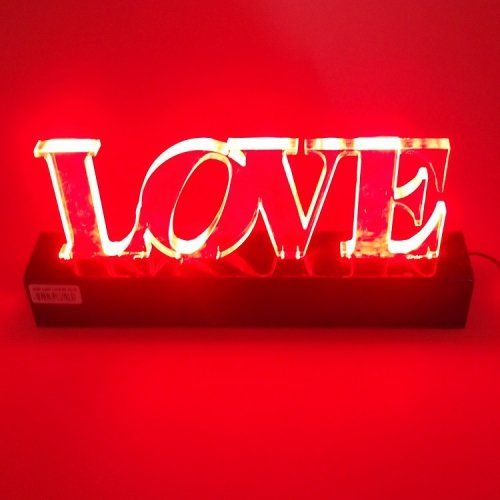 ACRÍLICO LOVE COM LED