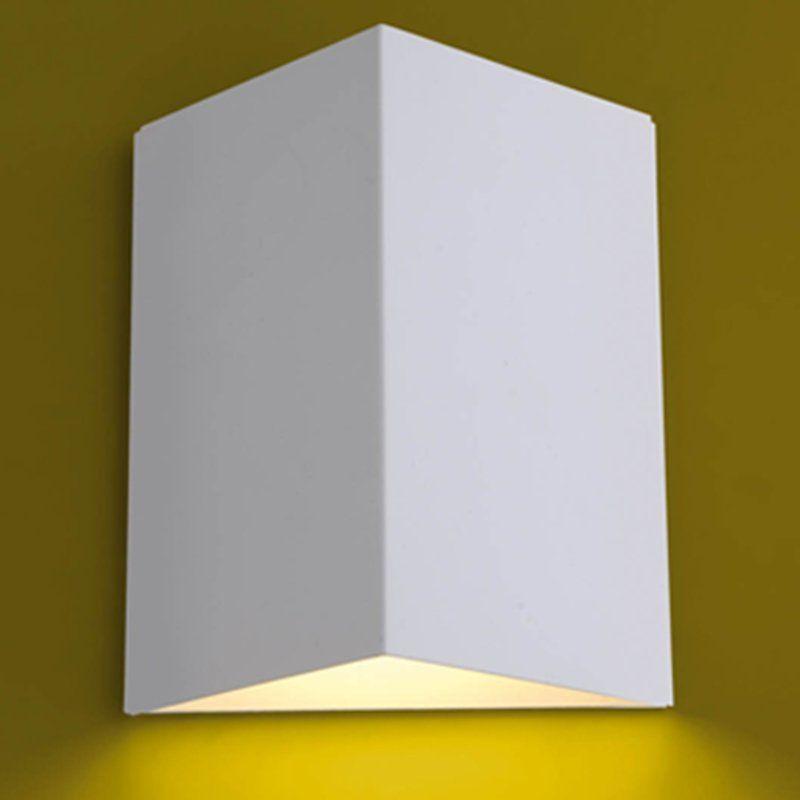 Arandela Flash meia face triângulo lisa 01 E-27 - Branco