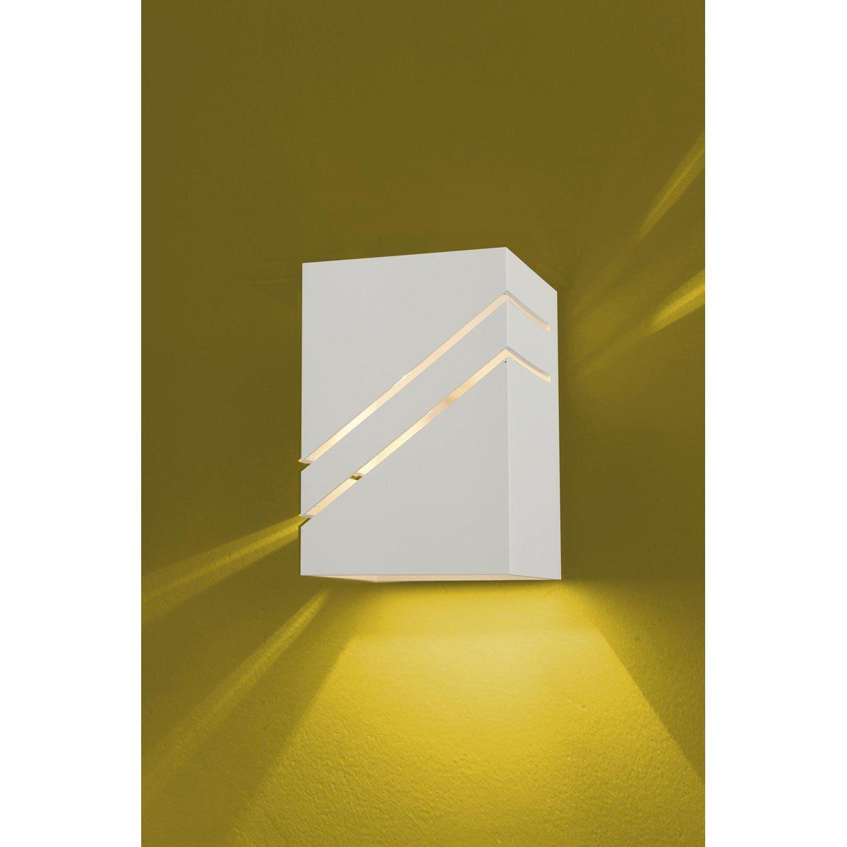 Arandela Flash tubo quadrada 02L Diagonal 01 GU9 Tampa Alumínio - Branca Microtexturizada