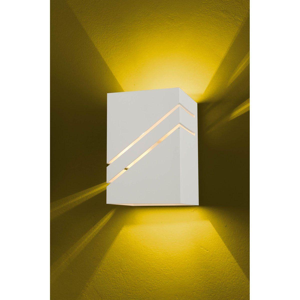 Arandela Flash tubo quadrada 02L Diagonal 01 GU9 Tampa Policarbonato com AntiUV - Branco