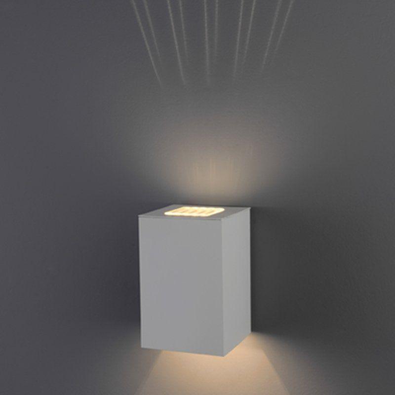 Arandela Flash tubo quadrada lisa 01 GU9 Lente Sol - Branca Microtexturizada