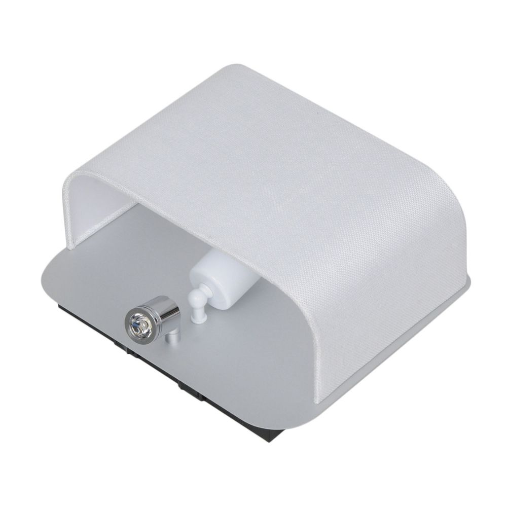 Arandela Met/Tec 28Cmx13Cmx24Cm 1Xe27 Led1W - Alumínio Escovado | Branco
