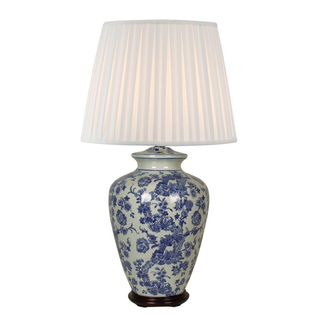 Base P/ Abajur Em Ceramica 51Cmh 1Xe27 - Branco | Azul