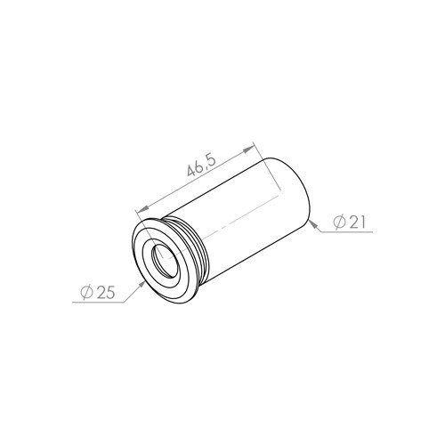 Embutido Multiuso Com 1 Led 0,2 Watts Branco Quente Ip66