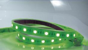 Fita Led blister 1 mt-SMD3528-60Led's/mt-4,8W/mt 127V-verde-IP65