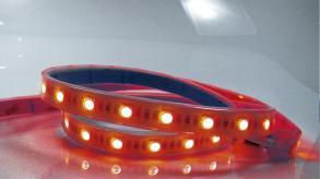 Fita Led blister 1 mt-SMD3528-60Led's/mt-4,8W/mt 127V-vermelho-IP65