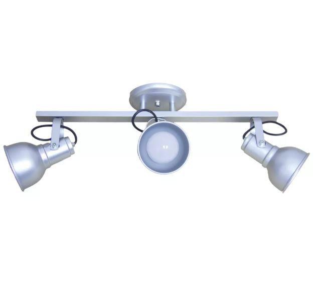 Luminária Spot em Alumínio no Trilho 3 Lâmpadas E27 Diversas cores