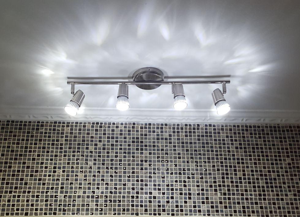 Luminária Trilho Sobrepor Arco New Short 4 Luzes Gu10  Llum Bronzearte