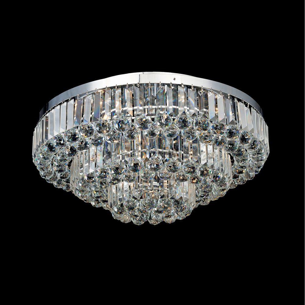 Lustre Dijon 80Cmx38Cm 13Xe14 - Cromado | Transparente