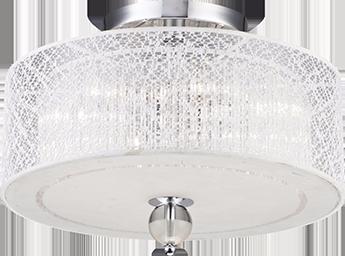 Lustre Plafon De Cristal 4 luzes E27 Llum Bronzearte Lace