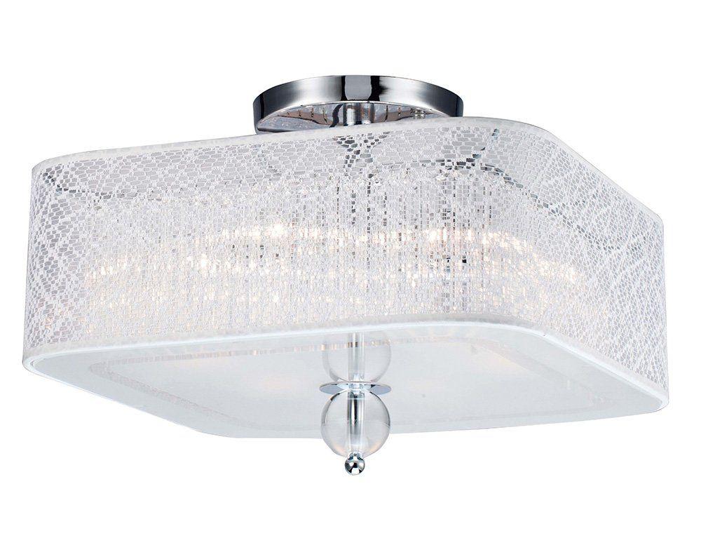 Lustre Plafon De Cristal Llum Bronzearte Lace 4 Luzes E27