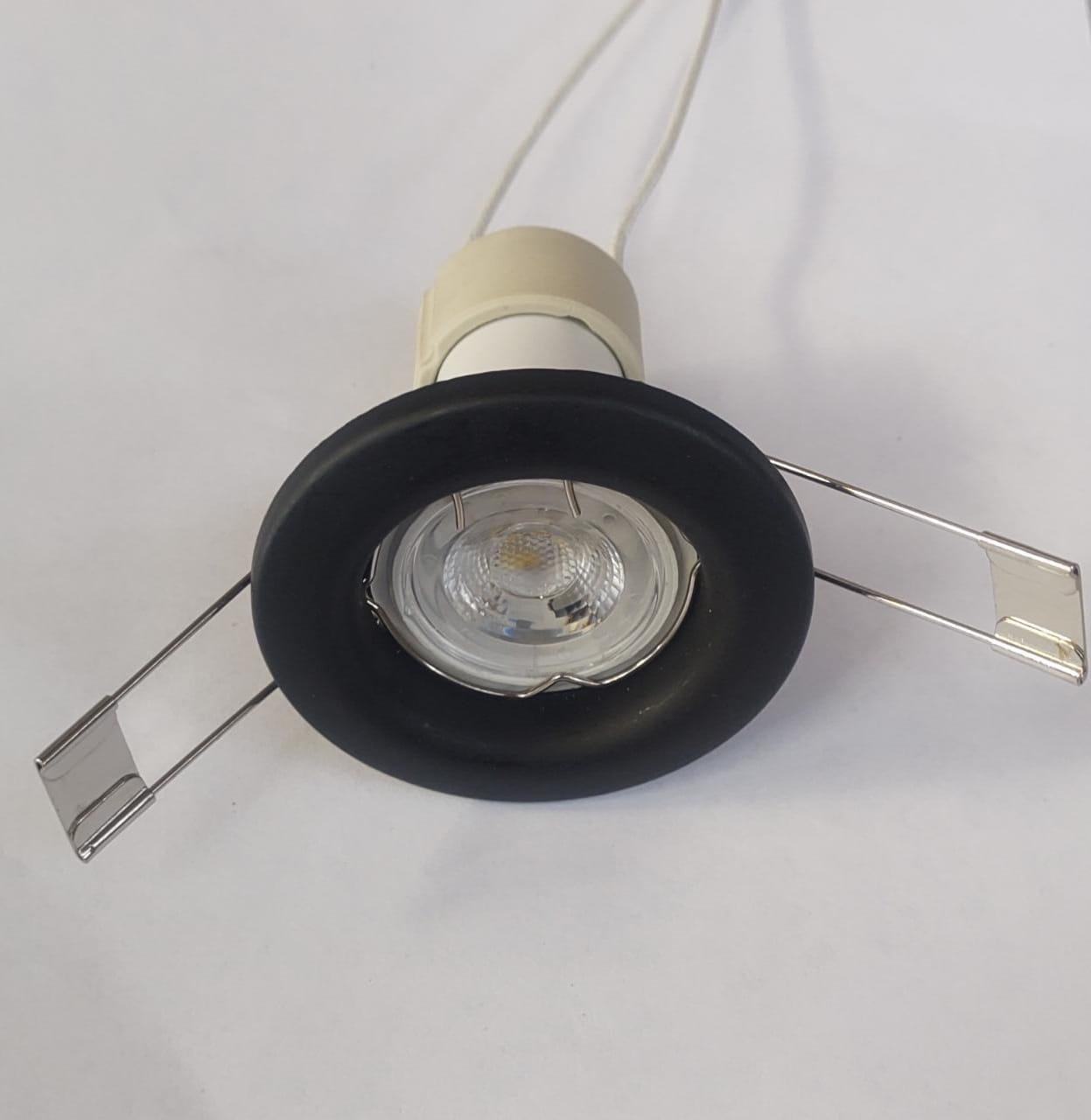MINI SPOT DE EMBUTIR PRETO COM LED 3W