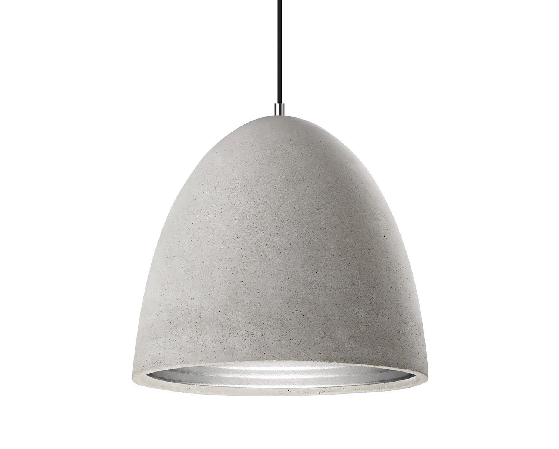 Pendente em Concreto com Interior em Alumínio
