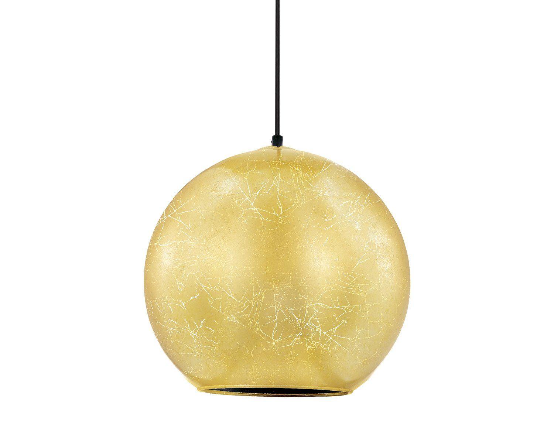 Pendente em Vidro Folheado Dourado