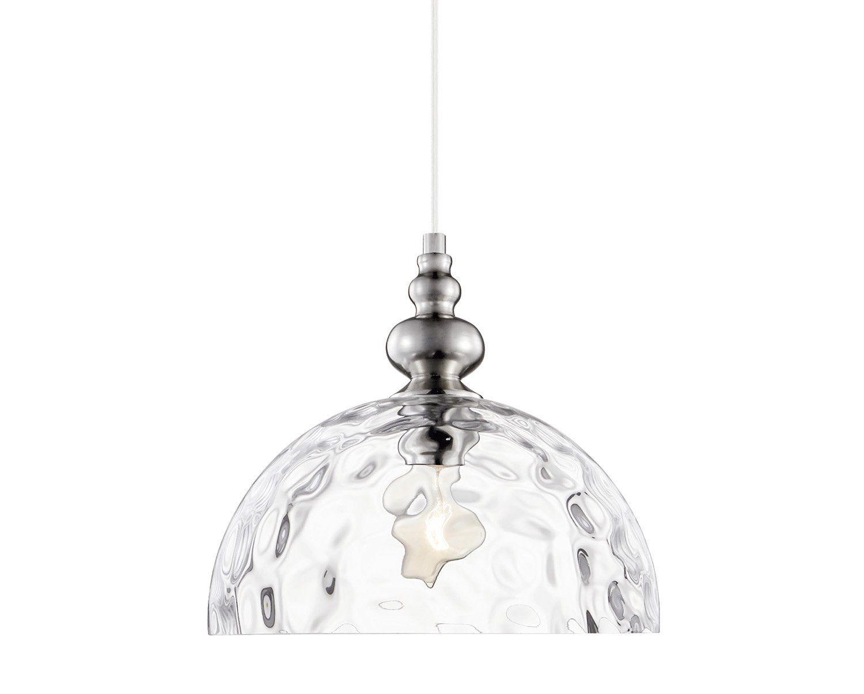 Pendente em Vidro Transparente e Metal Antique Dourado - 30CM