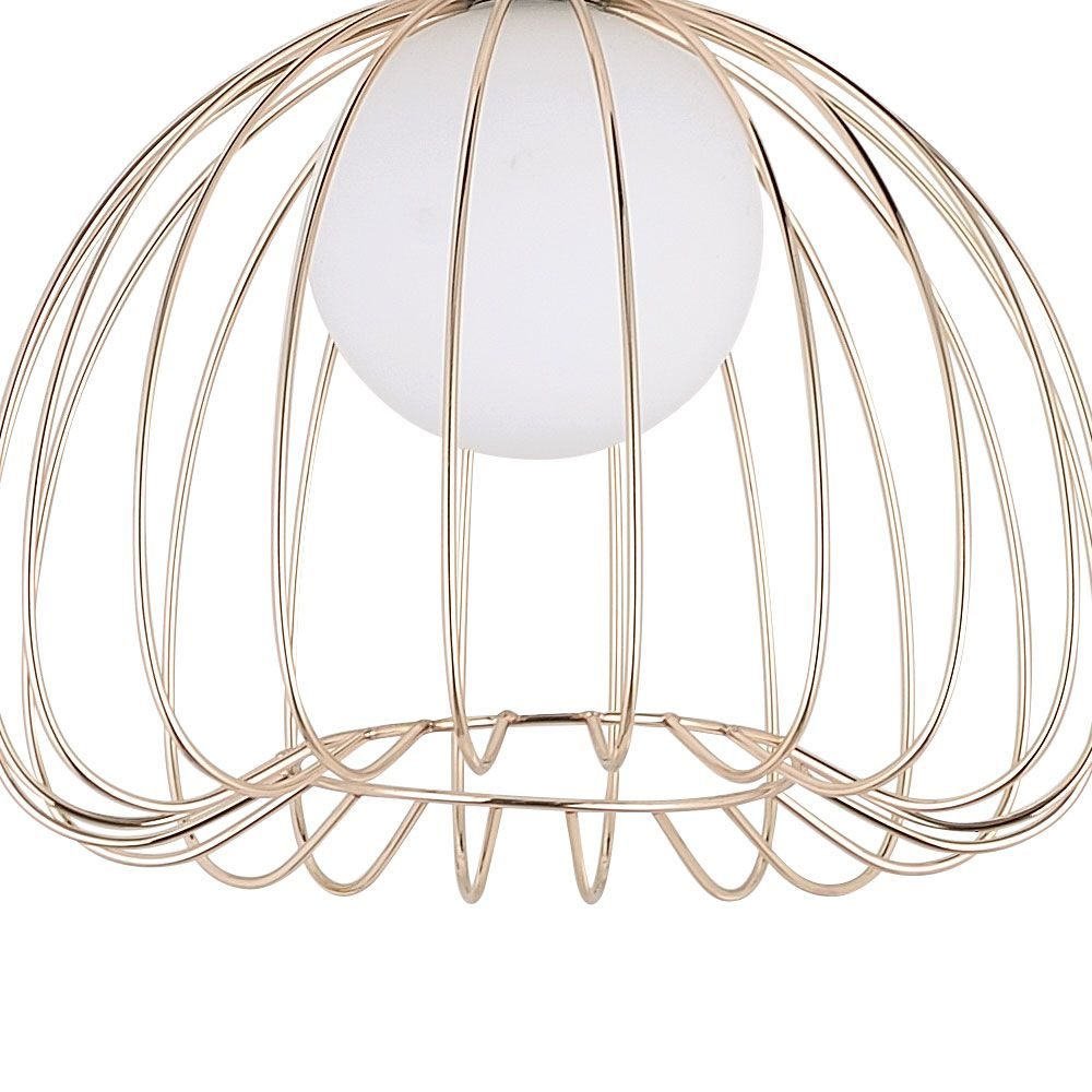 Pendente Lamp Ø25Cmx21Cm 1Xg9 Bivolt French - French Gold E Branco