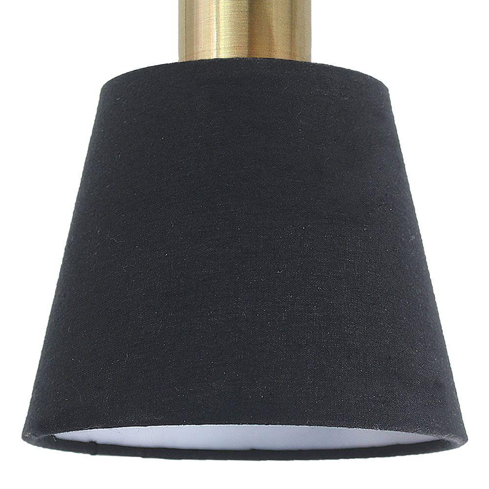 Pendente Pipe Ø12Cm X 19,5Cm 1Xe14 Bivolt - Dourado E Preto