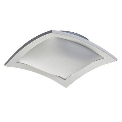 Plafon Em Aço/Vidro 50Cmx50Cmx10Cm 4Xe27 - Branco