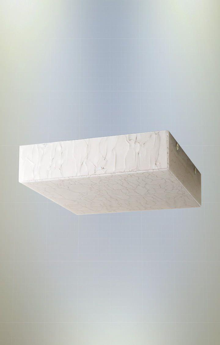 Plafon Madrepérola Quadrado 20cm 2xE27 em Acrílico