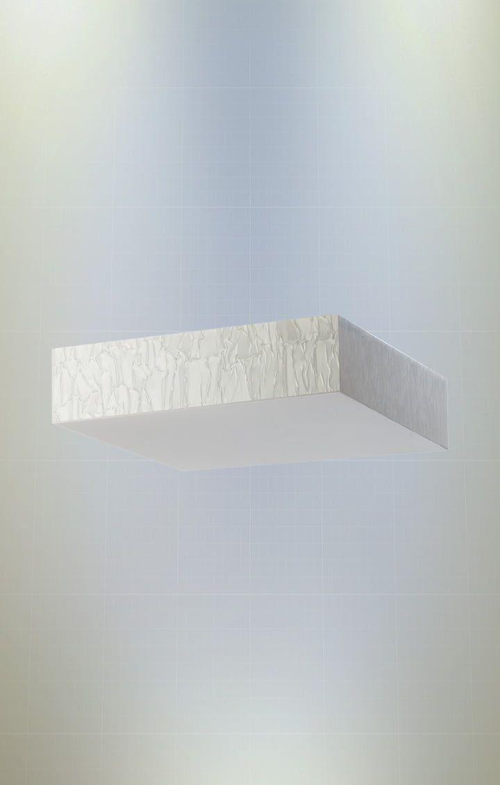 Plafon Mançura Quadrado 40cm 4xE27 em Acrílico