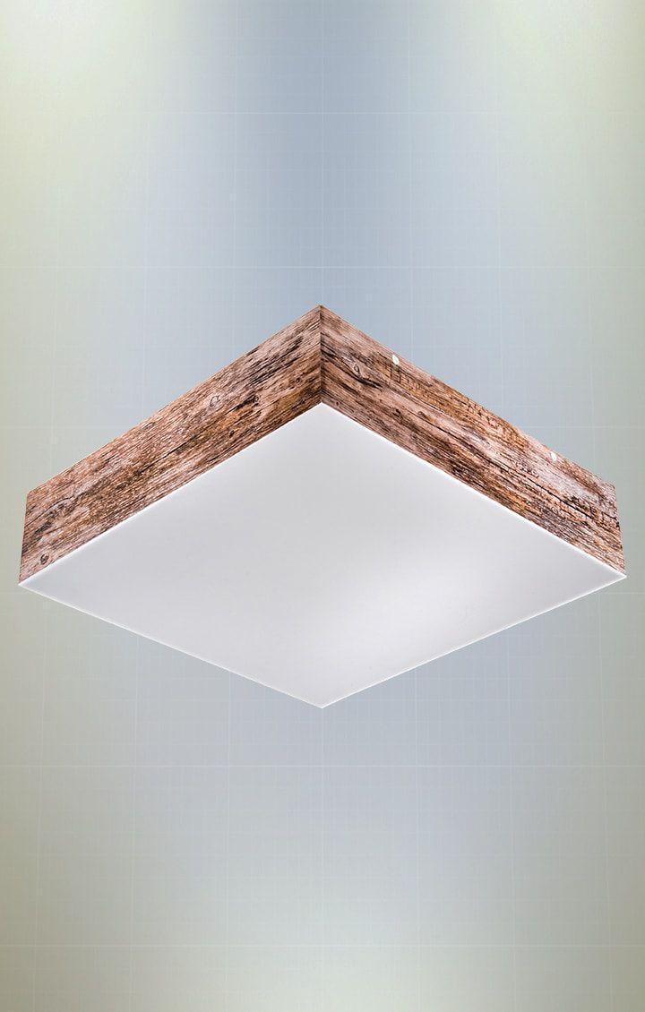 Plafon Oregon Quadrado 60cm 6xE27 em Acrílico