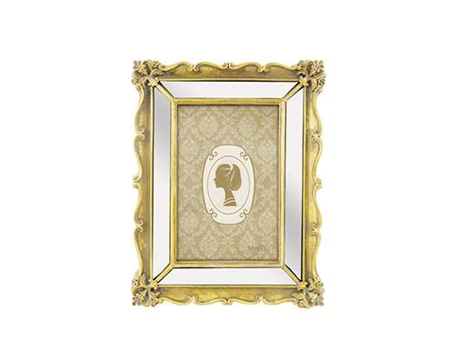 Porta Retrato Antique Dourado em Poliresina - 10X15CM