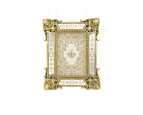 Porta-Retrato Antique Dourado em Poliresina - 10X15CM