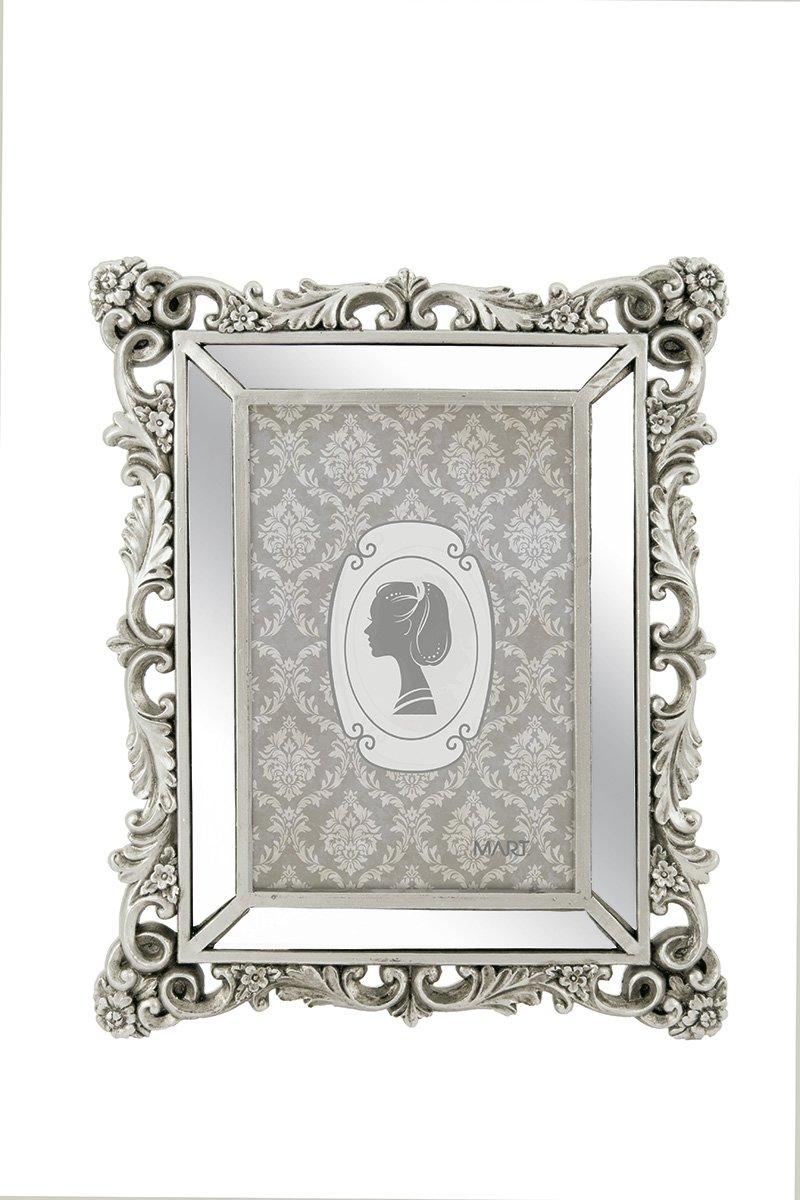 Porta-Retrato Prata em Poliresina - 10X15CM