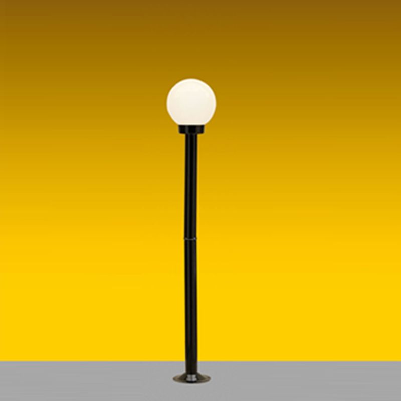 Poste Solarium 01 E27 118m globo boca 10cm (incluso) - Preto