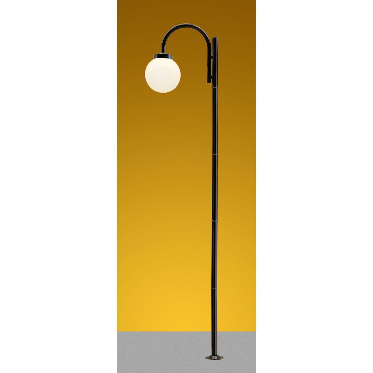 Poste Solarium 01 E27 275m globo boca 15cm (não incluso) - Preto