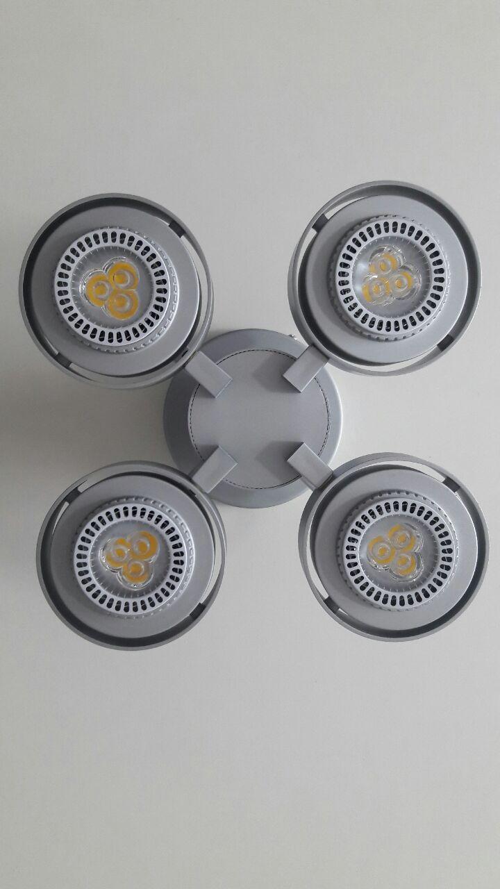 Spot Professional 4 luzes  Super LED 7w cada LLUM Bronzearte