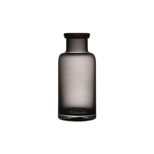 Vaso de Vidro Garrafa média Fumê- 20,4CM