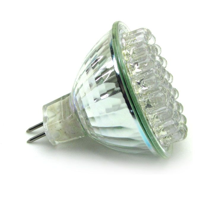 10x Lâmpada 38 LED Branco Morno 127V MR16 GU5.3