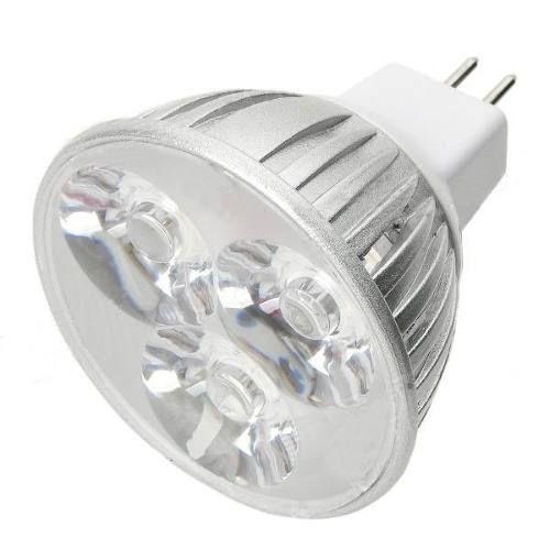 10x Lâmpadas 5W Leds Branco Morno +  Spot Quadrado Alumínio