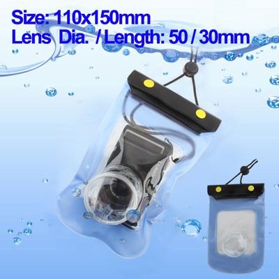 Capa à Prova D'água p/ Camera Fotográfica 110x150mm, Diâmetro e Tamanho da Lente 50/30mm