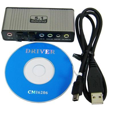 Placa de Som Externa  USB 5.1 Canais
