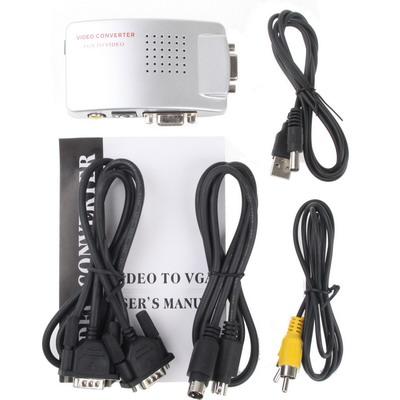 Conversor Box VGA x AV (PC p/ TV) conexão RCA S-Video