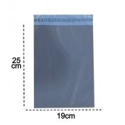 100 Envelopes De Segurança 19x25  Cinza Embalagem Correios