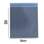 100 Envelopes De Segurança 26x36  Cinza Embalagem Correios