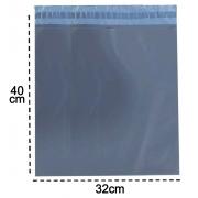 100 Envelopes De Segurança 32x40  Cinza Embalagem Correios